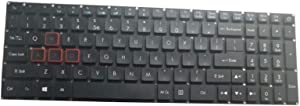 Laptop Keyboard for ACER VX5-591 VX5-591G N17C1 United States US ACM16B63U4 with Backlit(Red Words)