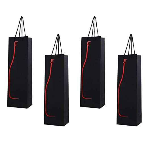 12 bolsas de regalo para botella de vino, bolsa de mano ...