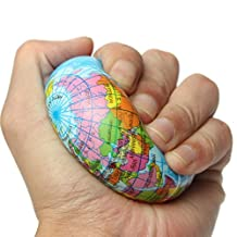 Paleo Earth Globe Planet World Map Foam Stress Relief Bouncy Press Ball Geography Toy
