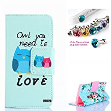 Xperia Z3 Case,CocoZ New Sony Xperia Z3 Case PU Leather Wallet Flip Credit Card Holder Money Slot Case [Kickstand] (Owl You Need Is Love)