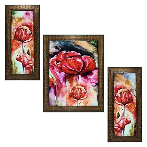 Indianara 3 PC Set Of FLORAL Art Paintings
