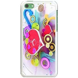 Apple iPhone 5C Case EMO Love Love D Design Widescreen Love White