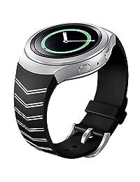 Watch Band, ABC Luxury TPU Silicone Watch Band Strap for Samsung Galaxy Gear S2 SM-R720 (Black )