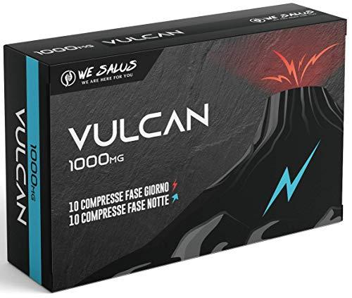 VULCAN | COMPRESSE GIORNO E NOTTE 1000 Mg | AZIONE RAPIDA E POTENTE | MADE IN ITALY | 26 INGREDIENTI ATTIVI TRA CUI…