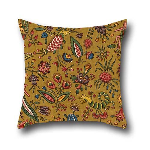 Oil Painting Oberkampf Cie. - Les Coquecigrues Pillow Shams ,best For Valentine,bar,son,birthday,drawing Room,girls 16 X 16 Inch / 40 By 40 Cm(double Sides) - Berry Standard Sham