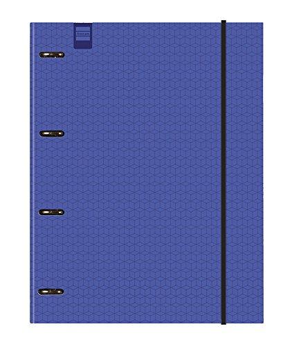 Finocam Kubic - Carpeta 4 anillas, color azul: Amazon.es: Oficina y papelería
