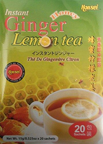 LEMON Honsei Instant Ginger Honey Tea 15 G/0.525oz -