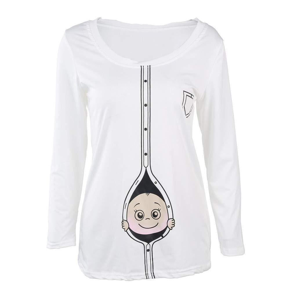 Romance8 Large Size Pregnant Women T-Shirt Long Sleeve Cute Top by Romance8 (Image #3)