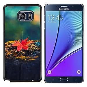 Hoja de arce roja- Metal de aluminio y de plástico duro Caja del teléfono - Negro - Samsung Galaxy Note5 / N920