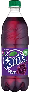 Fanta Soda Fruit Flavored Soft Drink 20 Ounce bottles (Grape)