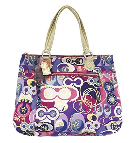 ... where to buy coach limited edition poppy glam shopper bag purse tote  18342 multi 59a90 b87c9 e6f23be3f21c7