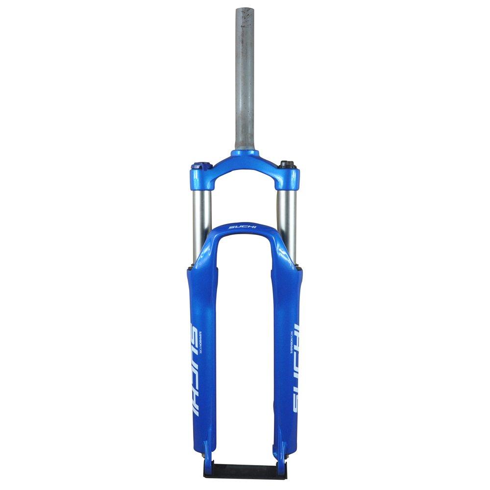 UPANBIKE サスペンションフォーク 26インチマウンテンバイク ロックアウト可能 プレロード可能 ディスクブレーキ自転車に適用 B019XEX2LW ブルー ブルー