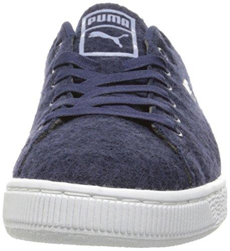 Cestino da uomo Classic Sneaker di moda in lana goffrata, Peacoat / Tempest, 13 M US