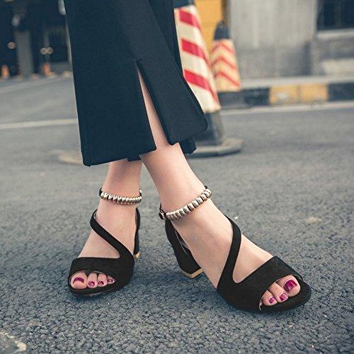 toe sandali scarpe LI Ladies Flop BAJIAN di sandali Alta Flip basse estivi scarpe Peep heelsWomen 8txd0qw