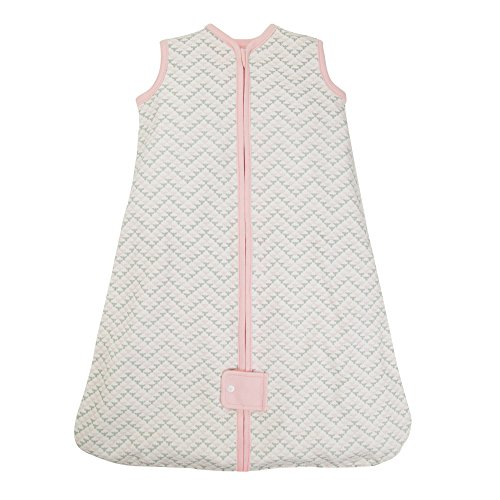 Burt's Bees Baby Beekeeper Wearable Blanket, 100% Organic Cotton, Chevron Bee Blossom (Medium) Organic Sleepsack