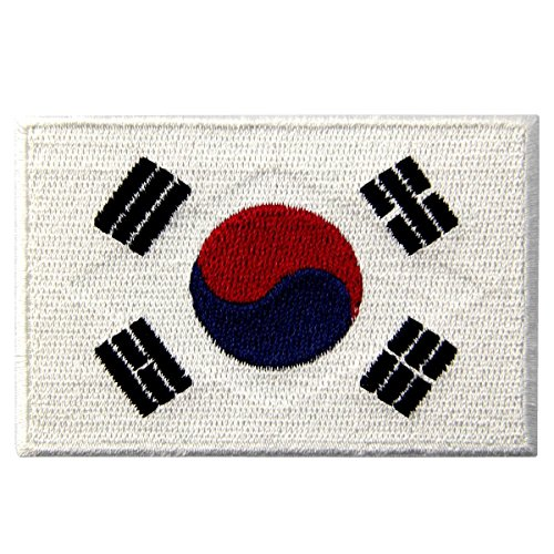 1.13 x 1.75 inches. South Korea Flag Embroidered Patch Korean Iron-On National - Canada To Ship Usps Will