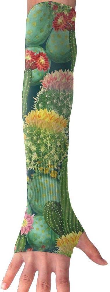 TO-JP Cactus Garden Gloves Anti-uv Sun Protection Long Fingerless Arm Cooling Sleeve