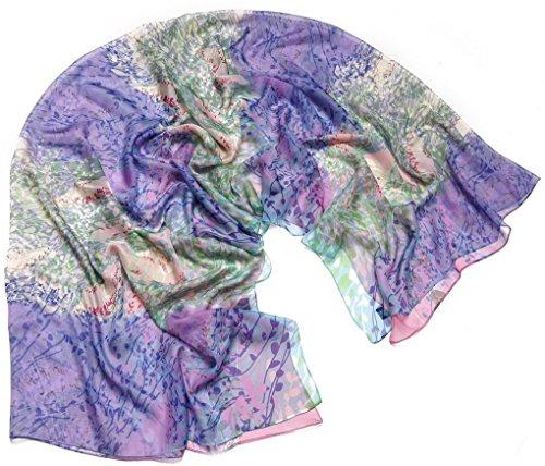 flores suave la Fashion bufanda primavera Larga de estampado 180cm 08 Woman 140cm o gasa para Scarf Aivtalk oto con Choice de Color P8IOOxd