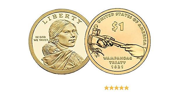 Proof Wampanoga Treaty 2011 Native American Sacagawea S Dollar