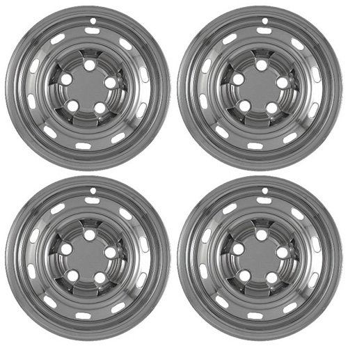 Set of 4 Chrome 17″ Hub Cap Wheel Skins: Dodge Ram 1500 ST 17×7 Inch 5 Lug Steel Rim -aftermarket: IMP/61X