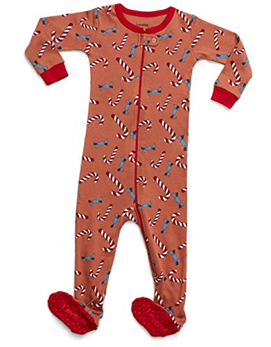 Leveret Candy Cane Baby Footed Pajamas Sleeper