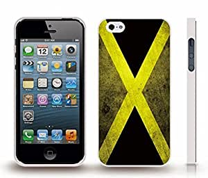 iStar Cases? iPhone 4 Case with Jamaica Flag Grunge Look , Snap-on Cover, Hard Carrying Case (White)