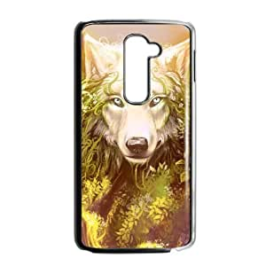 LIULAOSHI Wolf Phone Case for LG G2 Black [Pattern-1] by Maris's Diary