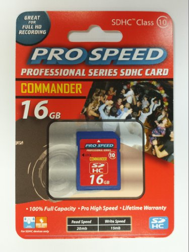 Commander 16 GIG Pro Speed Professional Series SDHC Class 10 - Card Series Sdhc