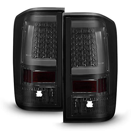 ACANII - For NEW Style LED Light Tube Smoke Tail Lights Lamps 2004-2015 Titan 5.6L Truck