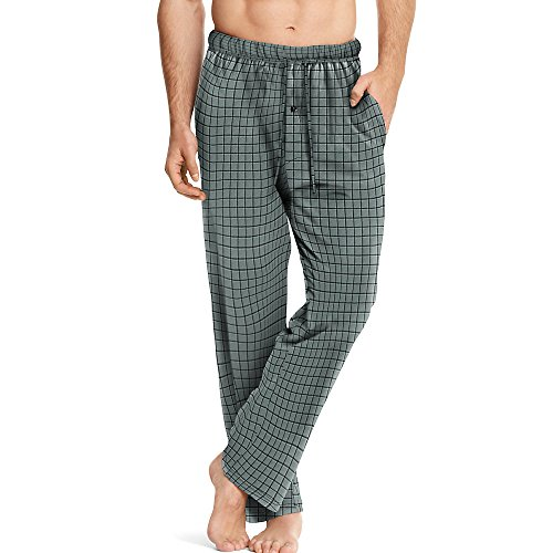 Hanes ComfortSoft Men`s Cotton Printed Lounge Pants - Best-Seller, 01000, XL,
