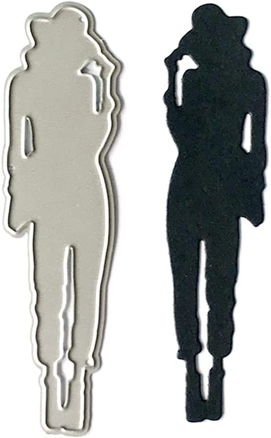 qingqingR Chapeau Femme en M/étal D/écoupe Matrices Pochoir DIY Scrapbooking Album Timbre Papier Carte Gaufrage Artisanat D/écor