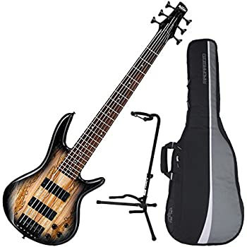 ibanez gsr206sm 6 string electric bass natural grey burst w spalted maple top w. Black Bedroom Furniture Sets. Home Design Ideas