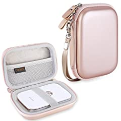 DURABLE PU MATERIAL CASE. Made of water resistant PU material and high quality Semi-hard EVA, Provides excellent protection. WRIST STRAP. Includes detachable wristband for easy carrying for your comfort. You can carry it anywhere.Compa...