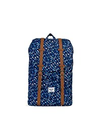 Herschel Supply Co. Retreat Mid-Volume, Peacoat Mini Floral/Tan Synthetic Leather