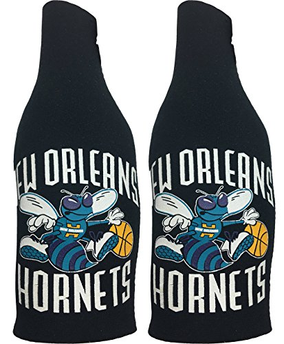 NBA New Orleans Hornets Throwback Vintage Zip Up Bottle Suit Cooler 2 pack by Kolder
