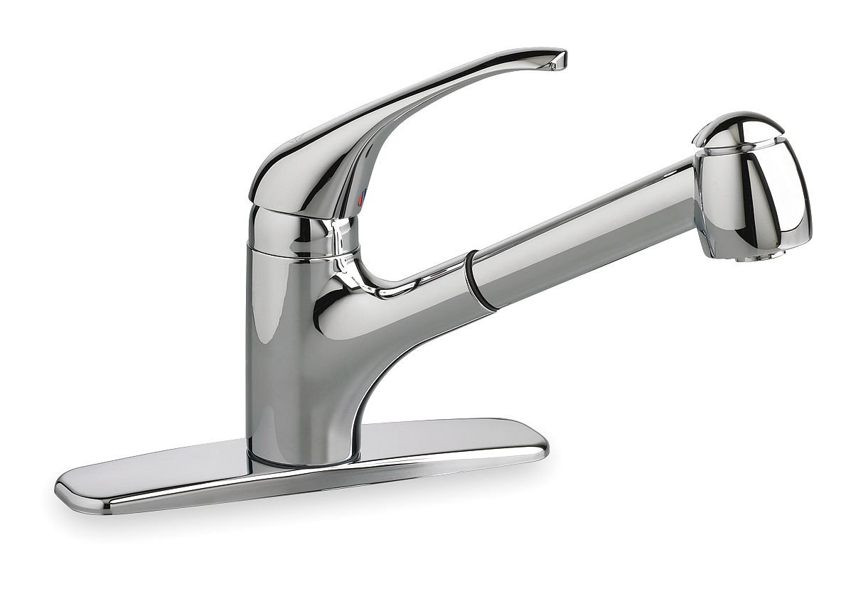 AMERICAN STANDARD 4205104.002 RELIANT+ PULL-OUT KITCHEN FAUCET WITH SINGLE HANDLE, POLISHED CHROME (1 PER CASE)