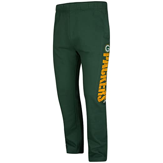 7b13454bf4f Amazon.com   VF Green Bay Packers Green Just Getting Started Open Bottom  Sweatpants (XL 36-37)   Sports   Outdoors