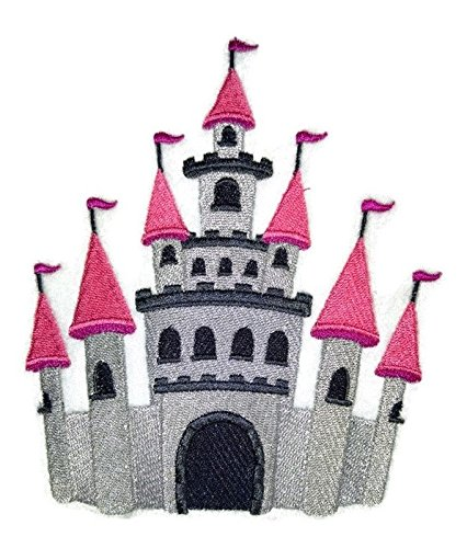 Custom and Unique Magical Fairy Collection [ Fairy Tale Adventures Castle ] Embroidered Iron on/Sew patch [ 4.81 * 5.65 ] [Made in - Mall Rock Castle