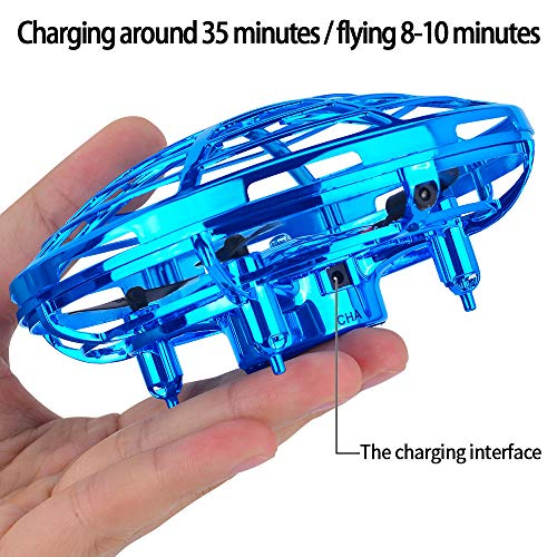 ACECHUM Kid and Boy Toys, Hand-Controlled Flying Ball, Interactive Infrared Induction Helicopter Ball with 360° Rotating and Shinning LED Lights, Flying Toy for Boys Girls and Kids Gifts