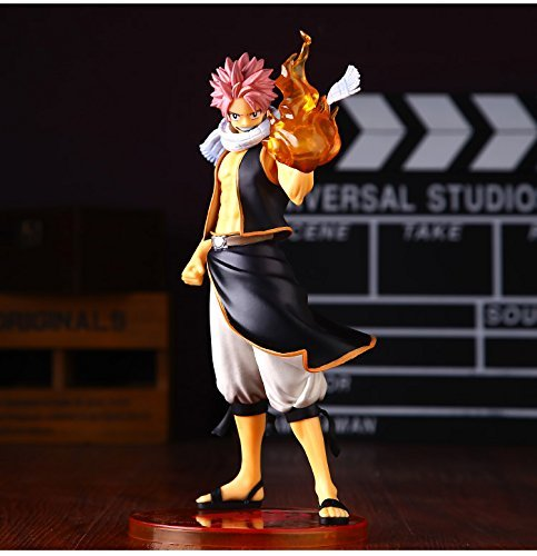 Japan Anime Fairy Tail Natsu Dragneel Original 24cm Boxed PVC Action Figure Model Toys by Figure Toys