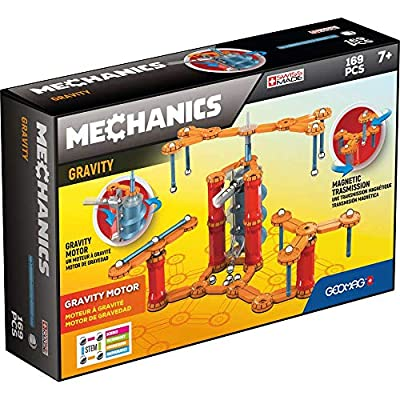 Geomag - MECHANICS GRAVITY MOTOR - 168-Piece Building Set with Magnetic Motion, Certified STEM Marble Run Construction Toy for Ages 7 and Up: Toys & Games