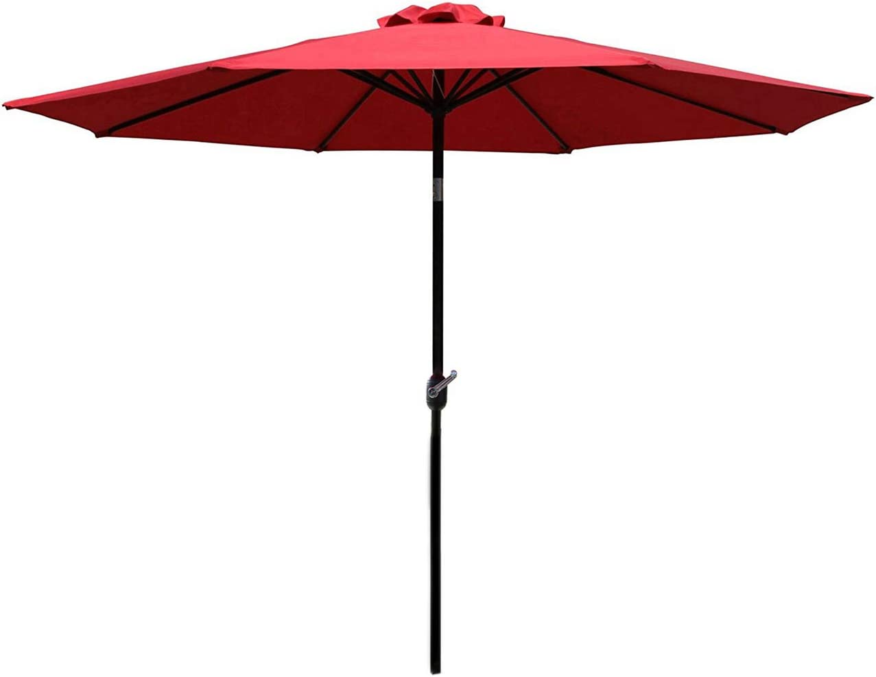 Sunnyglade 9Ft Patio Umbrella Outdoor Table Umbrella with 8 Sturdy Ribs (Red)