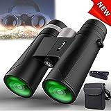 Binoculars for Adults - Niskite Compact Binocular Roof Prism 12X42 for Bird Watching,High