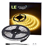 LE 12V Flexible LED Strip Lights, 3000K Warm White, 300 Units 5050 LEDs, 218lm/ft, Non-waterproof, Light Strips, Pack of 5M