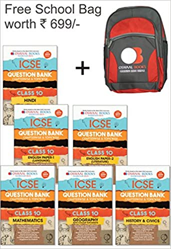 Amazon in: Buy Oswaal ICSE Question Bank Class 10 (Set of 6 Books