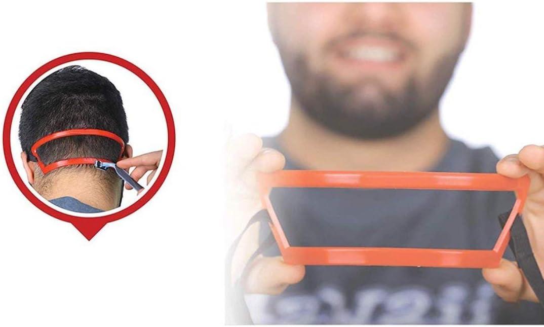 Kongqiabona-UK Reglas de Ajuste de la Forma roja del Cuello Trasero del Hombre Plantilla de Modelado de la Forma de la Barba roja Conjunto de molduras Herramienta de Regla de la moldura Anterior