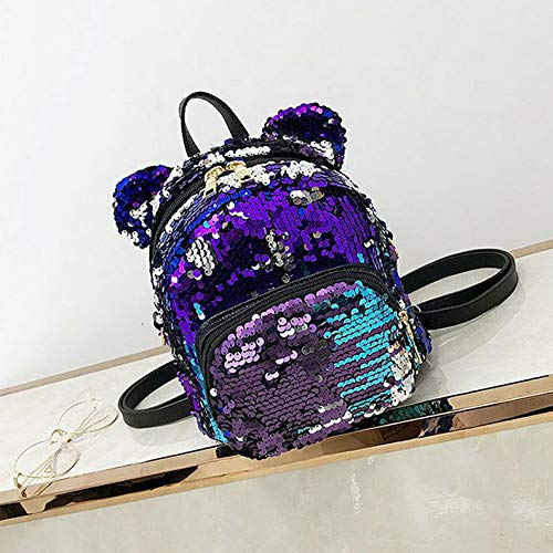 Mikash Girls Sequins Backpack Glitter Bling School Travel