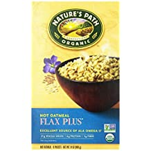 Nature's Path Organic Instant Hot Oatmeal Pouch Flax Plus, 8-Count Boxes (Pack of 6) by Nature's Path