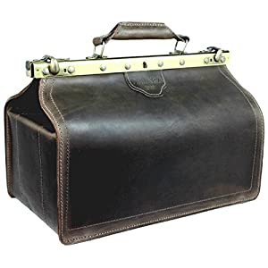 DELARA Real Saddle Leather Doctor's Bag incl. DELARA Leather Care – Made in Germany
