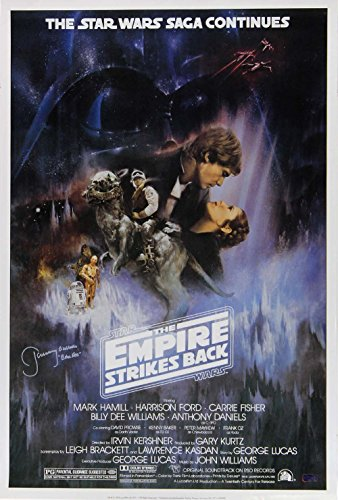 "Jeremy Bulloch ""Boba Fett"" Autographed/Signed Star Wars Empire Strikes Back 24×36 Movie Poster – Alternate"